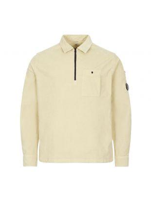 CP Company Corduroy Shirt Half Zip   MSH0287A 005899O 303 Oyster