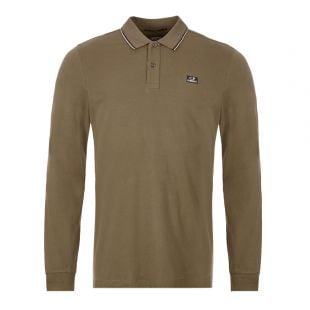 CP Company Long Sleeve Polo MPL|104A|005263W|661 Dusty Olive At Aphrodite Clothing