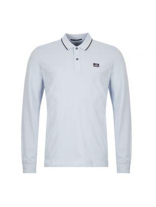 cp company long sleeve polo shirt MPL070A 005263W 817 light blue