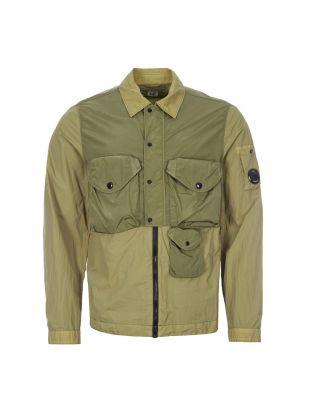 cp company overshirt taylon l MOS063A 005783G 693 martini green