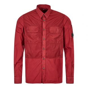 CP Company Overshirt | MSH227A 000982M 576 Scooter Red