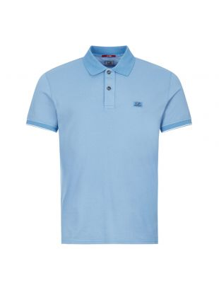 CP Company Polo Shirt | Two Tone Blue MPL052A 00973G 818 | Aphrodite