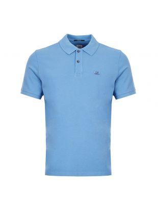 CP Company Polo Shirt Logo   MPL081A 005527G 818 Blue / Black