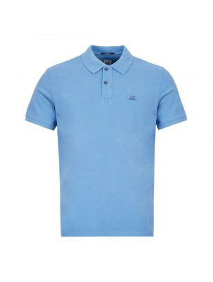 CP Company Polo Shirt Logo | MPL081A 005527G 818 Blue / Black