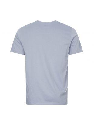 T-Shirt Large Logo Print - Blue Fog