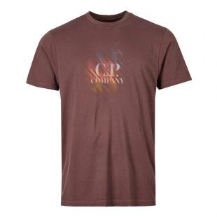 CP Company T-Shirt Logo | MTS239A 005621W 792 Peppercorn / Brown