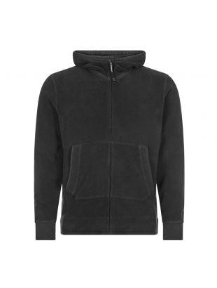 Garment Dyed Polar Fleece Goggle Hoodie - Black