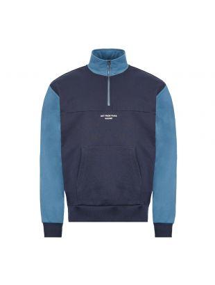 drôle de monsieur sweatshirt half zip|SS20SW003 navy