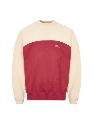 Sweatshirt Back-Print - Burgundy / Beige
