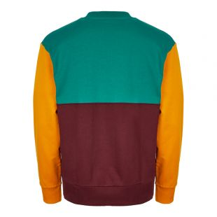 Sweatshirt - Burgundy / Green / Yellow