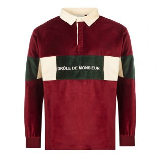 Polo Shirt Velvet Paneled - Burgundy