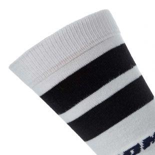 Socks Striped - White