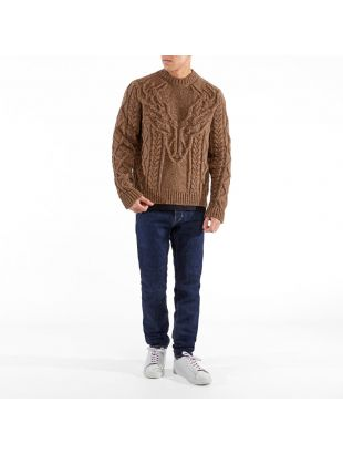 Cable Sweater - Brown