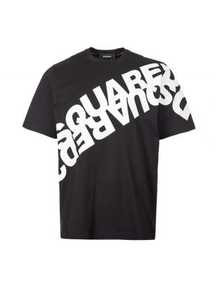 DSquared T-Shirt Diagonal Logo | S74GD0664 S22427 900 Black