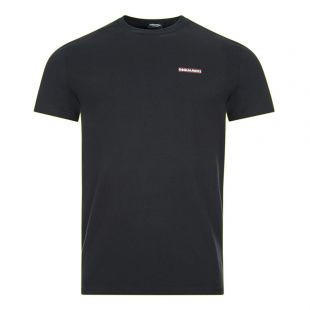 DSquared Crew Neck T-Shirt | Black D9M203040 001 | Aphrodite