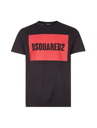 DSquared T-Shirt | S74GD0720 S22427 900 Black / Red