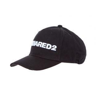 DSquared Logo Cap BCM002805 C00001 M063 Black