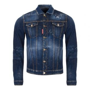 DSquared Denim Jacket S74AM0883 S30342 470 Blue