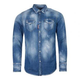 DSquared2 Shirt | S74DM0301 S30341 470 Denim Blue
