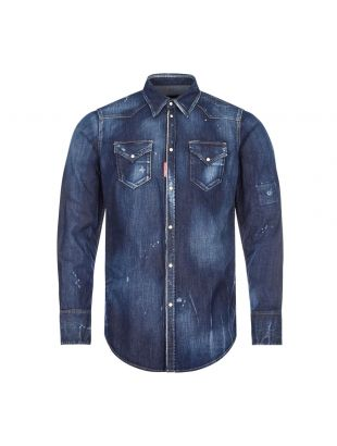 DSquared Denim Shirt Distressed | S74DM0453 471 Blue| Aphrodite