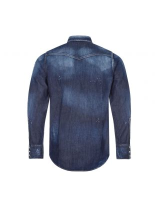 Denim Shirt Distressed - Blue