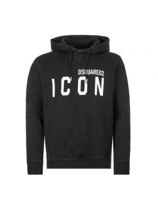 DSquared Icon Hoodie | S79GU0002 S25042 968 Black / White