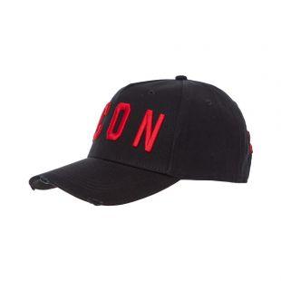 dsquared2 icon cap BCM400105 C00001 M002 black / red