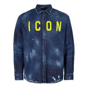 DSquared Shirt Denim S74DM0273 S30341 470 Blue