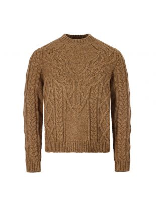 DSquared Cable Sweater , S71HA1005 S17465 133 Brown , Aphrodite 1994