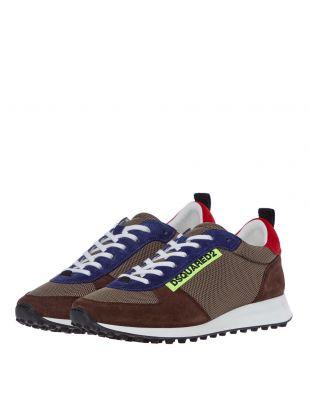 Low Top Sneaker - Brown / Blue / Red