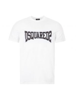 DSquared T-Shirt Logo | S71GD0918 S21600 100 White / Black | Aphrodite1994