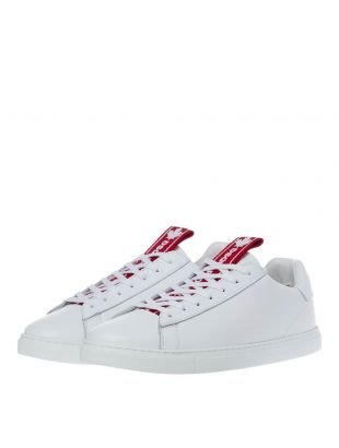 New Tennis Sneakers - White / Red