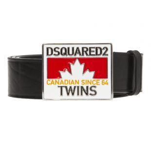 DSquared Belt BEM015101 500001 M063 Plaque Black