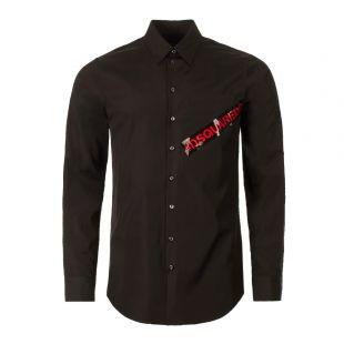 DSquared Shirt   S74DM0231 S36275 900 Black / Red