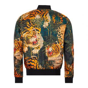 Jacket Tiger Print  - Black / Orange