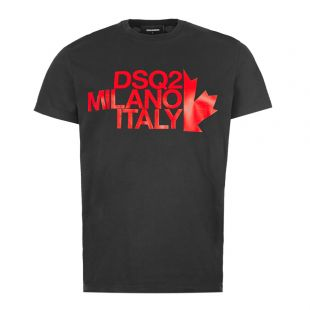 DSquared Milano T-Shirt S71GD0811|S20694|900 Black At Aphrodite Clothing