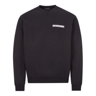 dsquared sweatshirt logo S71GU0374 S23497 900 black