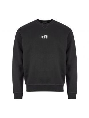 DSquared Sweatshirt , S79GU0009 S25042 900 Black , Aphrodite 1994