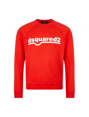 Dsquared sweatshirt , S74GU0460 S25030 307 Red , Aphrodite 1994