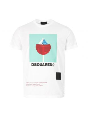 Dsquared T-Shirt , S71GD0948 S22427 100 White , Aphrodite 1994