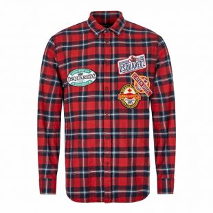 DSquared2 Shirt | S74DM0279 S52081 001F Red / Navy