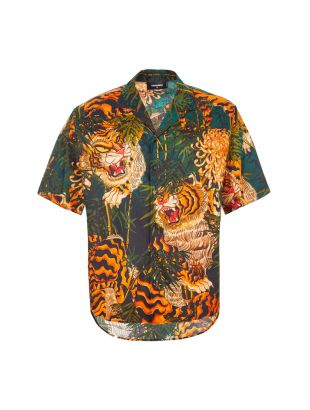DSquared Shirt Tiger Print | S71DM0385 S52775 001S Green / Orange