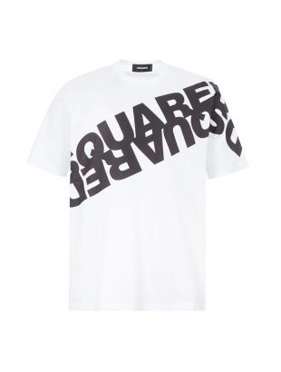 DSquared T-Shirt Logo | S74GD0664 S22427 963X White / Black | Aphrodite1994