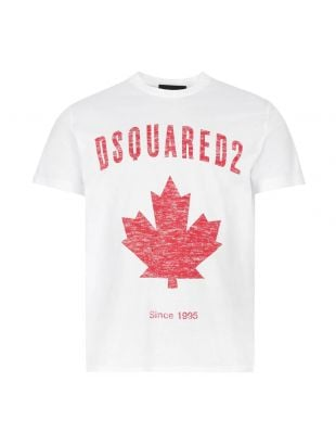 T-Shirt Canada - White / Red