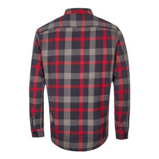 Labour Shirt - Ebony / Red