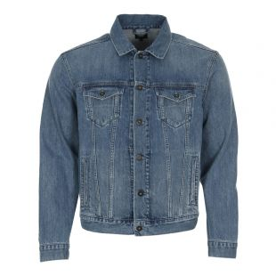 Edwin High Road Denim Jacket I025175F84703 Kingston Blue
