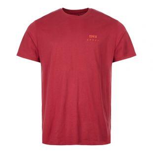 Edwin T-Shirt IO26690 RUW 67 03 Ruby Wine