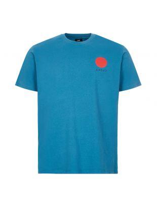 edwin t-shirt japanese sun logo   I025020 SXN 67 03 blue