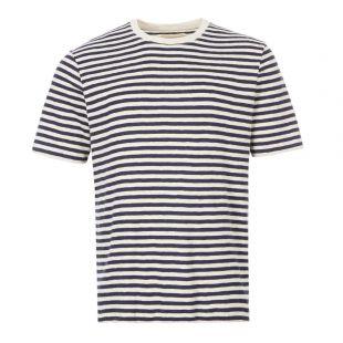 Folk T-Shirt   CI24J Ecru / Navy