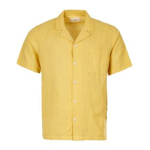 Folk Short Sleeve Shirt | FP5217S STW Washed Straw